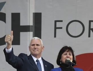 Mike Pence addresses pro-life rally