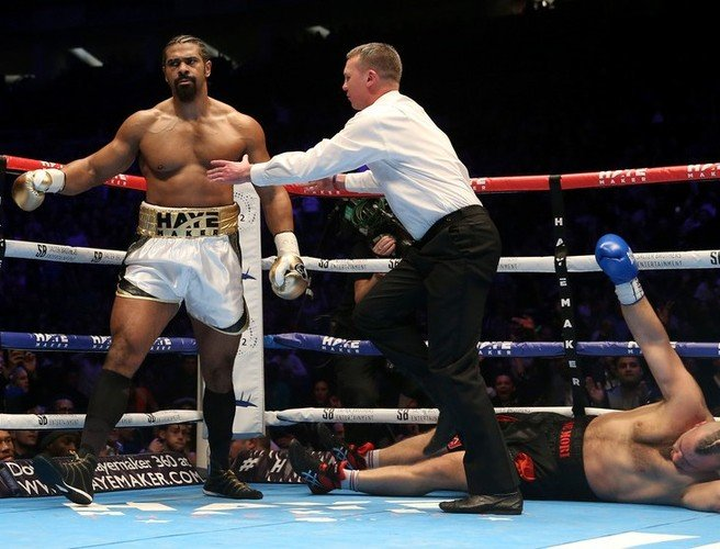 David Haye marks his return to boxing with explosive first round KO win
