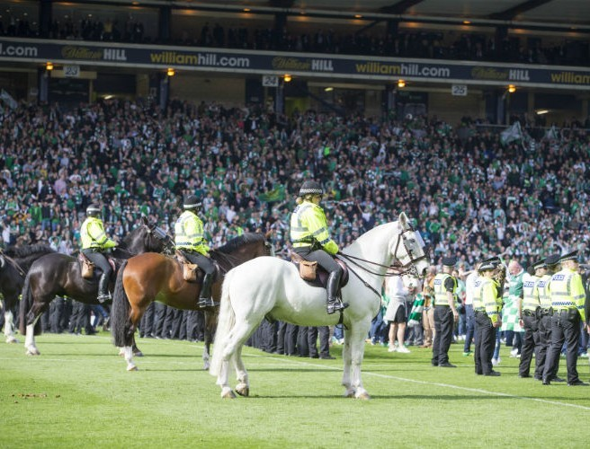 Lifetime bans for Hibs fans who caused trouble at Scottish Cup Final