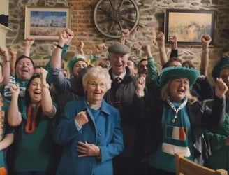 WATCH: Irish fans have a sing-a-long with Jack Charlton