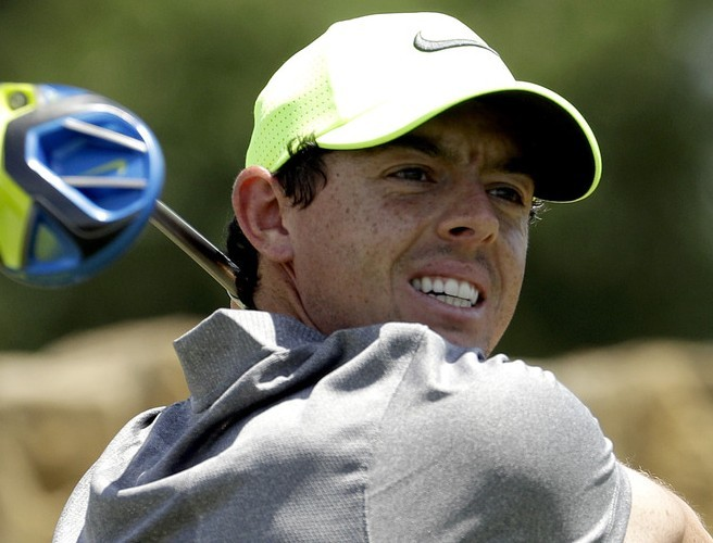 IMAGE: Rory McIlroy starts his recovery from US Open disappointment by celebrating Father's Day