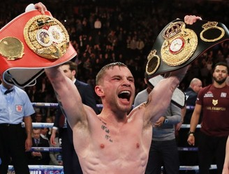 """I've made a bit of history"": Carl Frampton's helplessly ecstatic reaction after becoming Ireland's second two-weight world champion"