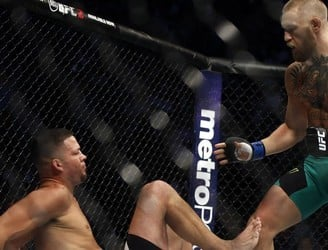 Conor McGregor sustains shin injury in thrilling Nate Diaz rematch